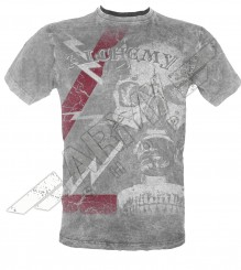 Death Mask Mens Grey Vintage T-Shirt