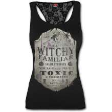 Damen Top Spiral Direct - WITCHY FAMILIAR