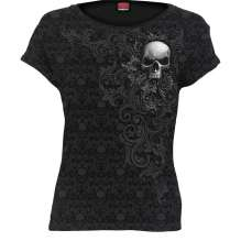 Damen T-shirt SKULL SCROLL