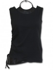 Damen Top GOTHIC ROCK - 2in1 PU Leather Vest